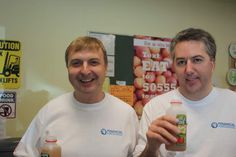 FinancialForce.com Preseident & CEO Jeremy Roche (on the left) helping out at the food bank in San Francisco