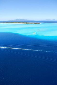 Lagon Bora Bora Vue du Ciel