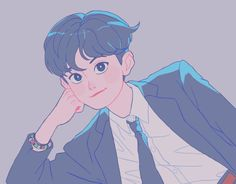 Kpop Fanart, Cartoon Art Styles, Cute Art Styles, Art Anime, Anime Kunst, Kpop Drawings, Cute Drawings, Aesthetic Anime, Aesthetic Art