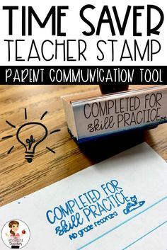 Use this Completed for Skill Practice Teacher Stamp on assignments your students completed for skill practice. Seriously this stamp is a game changer! I'm always looking for better ways to communicate with parents and this has made a world Teacher Stamps, Teacher Tools, Teacher Hacks, Teacher Resources, Resource Teacher, Teacher Sites, Teacher Freebies, Classroom Resources, Teacher Stuff