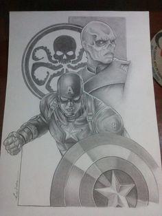 Ilustração capitão america o filme  pin up -Edi santos Illustration captain america movie pin up-Edi santos