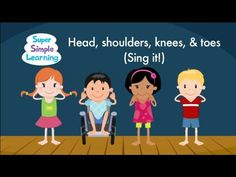 "It's time to perform ""Head Shoulders Knees & Toes (Sing It)""! #teaching #teachingbodyparts #kids #preK #education #preschool #SuperSimple #KidsMusic #KidsVideos #kidssongs"