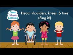 """It's time to perform """"Head Shoulders Knees & Toes (Sing It)""""! #teaching #teachingbodyparts #kids #preK #education #preschool #SuperSimple #KidsMusic #KidsVideos #kidssongs"""