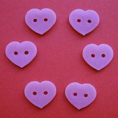 Items similar to 6 Vintage Pink Heart Shaped Buttons, Inch on Etsy Vintage Pink, Heart Shapes, Buttons, Colors, Etsy, Colour, Color, Paint Colors, Plugs