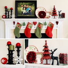 Christmas mantle