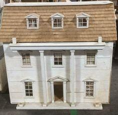 Vintage Handmade Wood Dollhouse