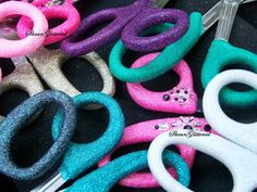 Glittered Trauma Shears, Custom Colors, WITH Rhinestones, EMS Shears, Nurse Scissors
