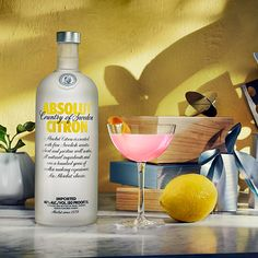 """The idea for Absolut Citron came from the US, where it has long been popular to drink vodka """"on the rocks"""" with a """"twist of lemon"""" for flavoring. Absolut Citron also became the main ingredient in the legendary """"Cosmopolitan""""."""