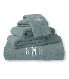 These coordinate with the striped towels. Ultra-Absorbent Cotton Towels: Bath Towels | Free Shipping at L.L.Bean