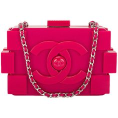 Pre-owned Chanel Fuchsia Pink Lego Clutch Boy Bag (44.190 BRL) ❤ liked on Polyvore featuring bags, handbags, clutches, chanel, bolsas, purses, evening bags and minaudières, handbags and purses, leather handbags y genuine leather handbags