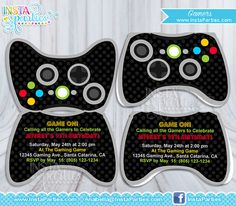 Free Game Controller Invitations Birthday invitation templates