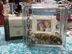 Decorative Glass Block  Love  Add your own Picture by kraftychix, $25.50