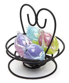 Mini Egg Basket Set by Kitras Art Glass #zulily #zulilyfinds