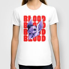BUY: http://society6.com/product/bloodbloodblood_t-shirt?curator=4thecrime  Blood Blood Blood - t-shirt