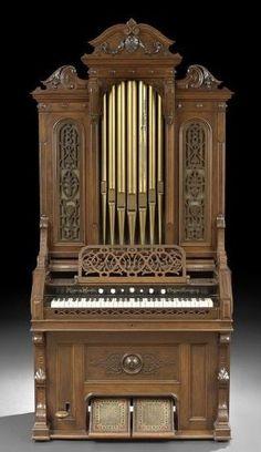 Love this Mason & Hamlin pipe top reed organ