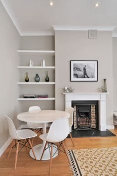 Victorian meets modern - Eames style table and chairs