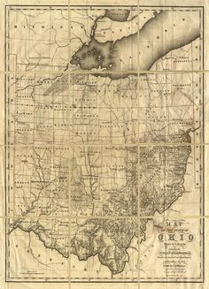 Map of Ohio with Indian Reservations