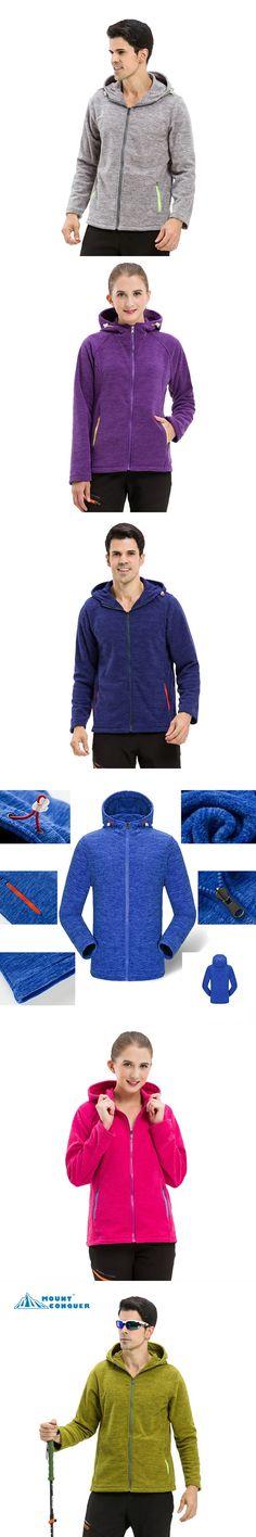 2017  Hiking Camping Trekking Female Coats Men's Women's Spring Fleece Softshell Jackets Outdoor Sports Warm Jacket