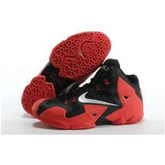 fadfd8bc2948 Top LeBron James XI Men Shoes in Red Black with White Logo