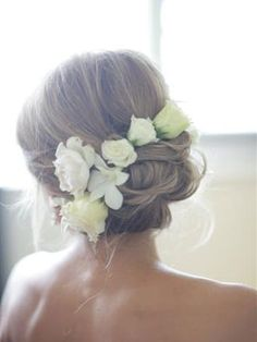 Love the flowers in the hair