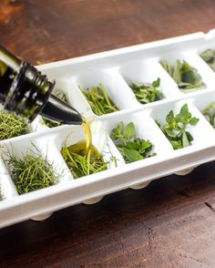 If your freezer makes ice, then your ice cube tray is probably sitting empty, frozen and alone, in the freezer door, or abandoned in the back of a cabinet somewhere. Go and get it right this instant, because the ice cube tray is a brilliant cook's tool, and can — nay, should! — be used for freezing many other things besides ice. Individual storage areas? Check. Small portions? Check. Totally freezer-friendly? Obviously. Here are 15 foods perfectly suited for freezing in an ice cube tray.