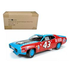 "1972 Plymouth Road Runner #43 Richard Petty ""STP"" 1/18 Diecast Model Car by Autoworld"