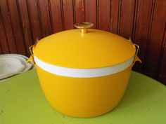 Vintage Sunfrost Therm-O-Ware Covered Serving Dish With Lid 2 Qt Golden Yellow by peacenluv72 on Etsy