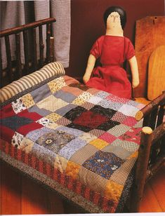Doll quilt from book American Doll Quilts by Kathleen Tracy.  See more of my patterns at www.countrylanequilts.com