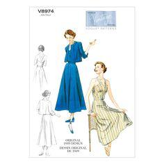 Mccall Pattern V8974 6-8-10-12--Vogue Pattern