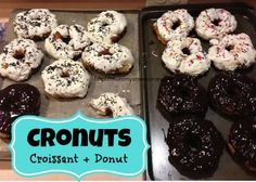 let's make cronuts--#Recipe  We made ours with Bailey's Irish Cream frosting and Whiskey Ganache--