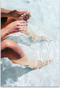 Painting in general. Un fragmento de piel acariciada, besada, recorrida... by Josep Moncada