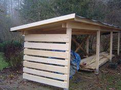 Holzhuette-Holzunterstand-Holzlagerhuette-Holzueberdachung-Brennholz-Bauplan