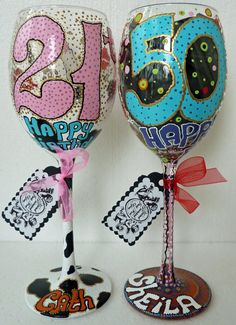 Bridal Wedding Party Hand Painted Wine Glass Party by AlenaShop, $20.99