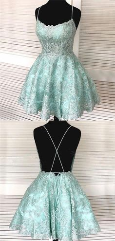 Spaghetti Straps Beackless Strapless Fulle Lace Homecoming Dresses, HD0532 #homecoming #homecomingdresses #2020homecoming #homecomingdress Pretty Homecoming Dresses, Prom Dresses For Sale, Short Dresses, Graduation Dresses, Dresses Dresses, Party Dresses, Custom Dresses, Dream Dress, Types Of Fashion Styles