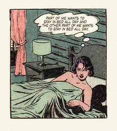 Retro Cartoons, Funny Cartoons, Funny Comics, Arte Nerd, Funny Postcards, Vintage Pop Art, Stay In Bed, Comic Panels, Tumblr