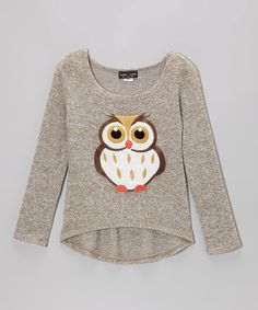 Look at this Zoe Brown Owl Burnout Tee - Girls on #zulily today!