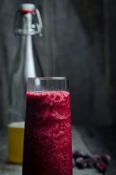 Kombucha Slushie with Berries and Lime is loaded with antioxidants, vibrant tart flavor and is an easy-to-make summertime treat that comes together in less than a minute.