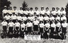 Girl Scouts in official Roundup uniforms.