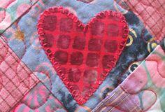 blanket stitch applique - machine stitched
