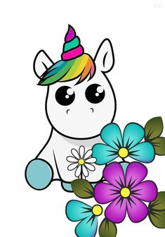 Cute Unicorn, Rainbow Unicorn, Cute Drawings, Drawing Sketches, Pretty Pink Princess, Unicorn Pictures, Unicorns And Mermaids, Baby Sewing Projects, Unicorn Crafts