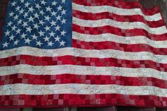 My next quilt will be a flag, similar to this flag quilt.