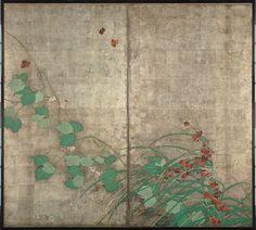 Hoitsu Sakai / Flowering Plants of Summer and Autumn  / 1821