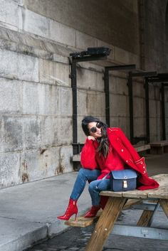 Casual Friday :: Red Coat