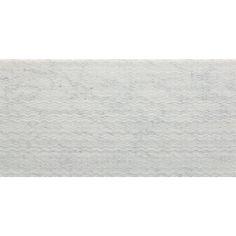 "Bianco Carrara Textura Field Tile | Artistic Tile 9"" X 18"" X 3/8"""