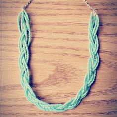 This is my DIY Braided Necklace #fashion #style #jewlery #DIY #Mint #Hipster #Crafts #braids #handmade #vintage