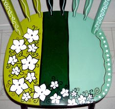 Personal Artwork - Painted Chairs by Carrie Butler at Coroflot.com                                                                                                                                                      More