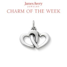 The Linked Hearts Charm is symbolic of unity in love. #charms #jamesavery