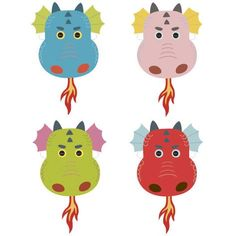 FREE DIY PDF printable print and cut mask Dragon, DragonQuest, Puff the magic dragon, George and the dragon, Cinder the dragon, Dragon school, dragon magic, BeastQuest, King Arthur, How to train your dragon.