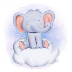 Elephant sit on PNG and Vector Elephant Illustration, Pop Art Illustration, Illustrations, Little Elephant, Cute Elephant, Cute Drawings, Animal Drawings, Scrapbooking Image, Elephant Background
