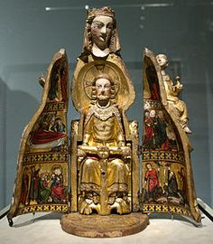 Vierge Ouvrante (or Shrine Madonna) Creator unknown  http://inpress.lib.uiowa.edu/Feminae/DetailsPage.aspx?Feminae_ID=30973